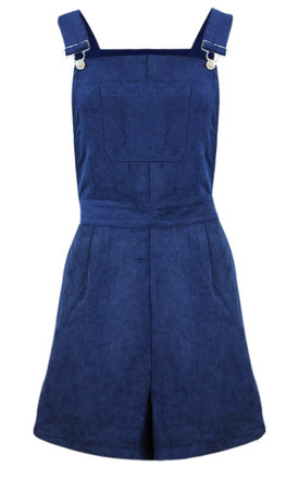 Suede denim dungaree with front pocket by Influence Fashion Product photo