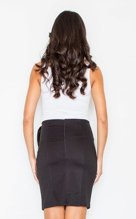 Black Bow Pencil Skirt by FIGL