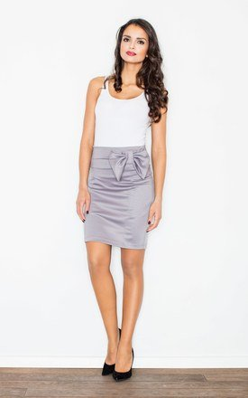 Grey bow pencil skirt by FIGL Product photo