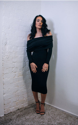 Courtney- drop shoulder midi dress by Dressed By Lauren Product photo