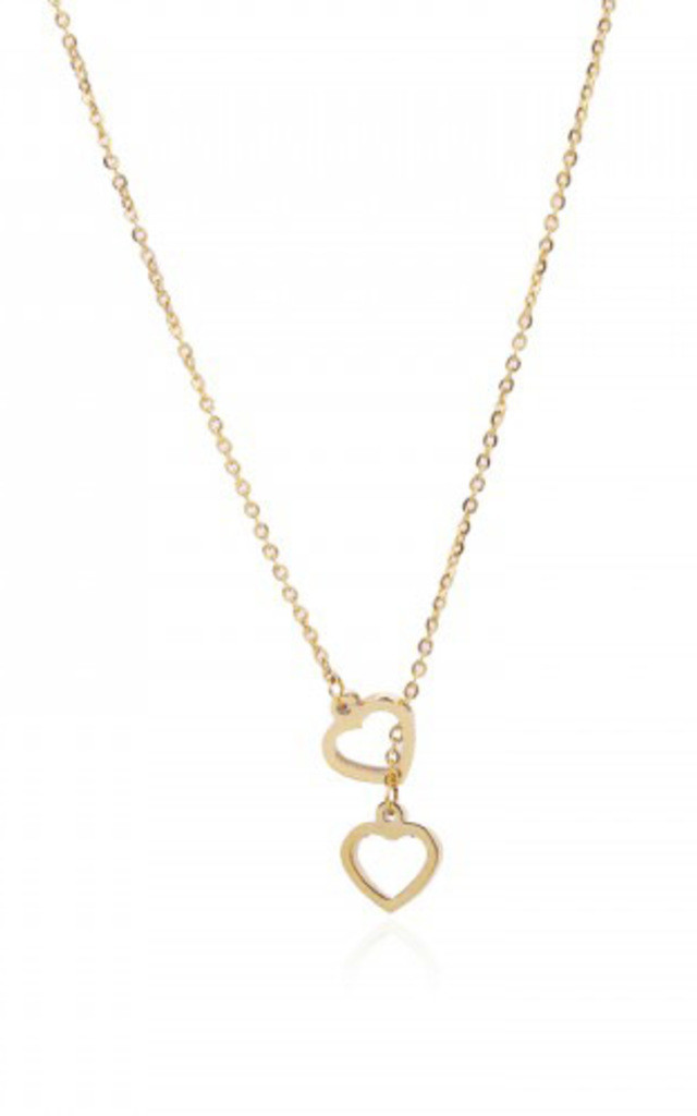 Double Heart Necklace by VeryGirly