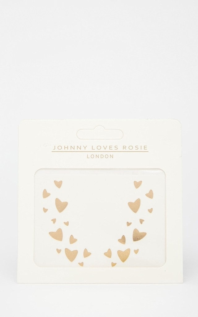 Gold Face Heart Tattoos by Johnny Loves Rosie