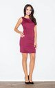 Sleeveless Mini Dress in Deep Red by FIGL