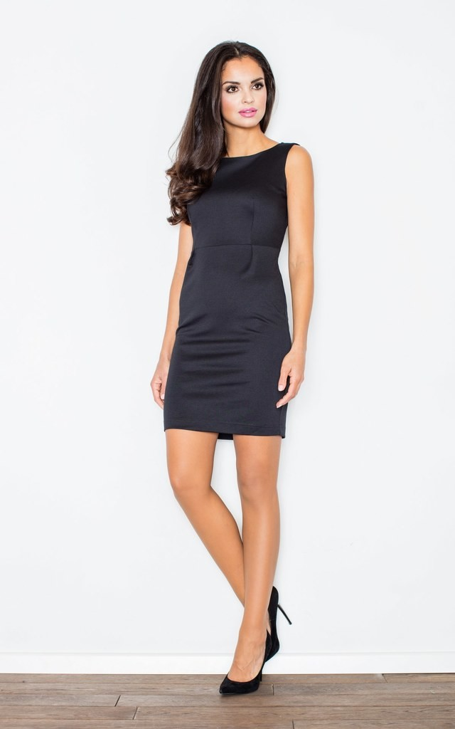 Sleeveless Mini Dress in Black by FIGL