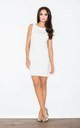Sleeveless Mini Shift Dress in white by FIGL