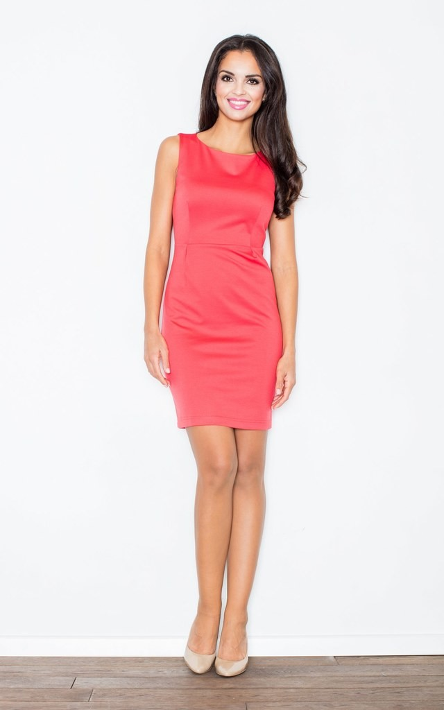 Coral Sleeveless Dress by FIGL