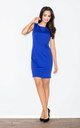 Sleeveless Mini Dress in Cobalt Blue by FIGL