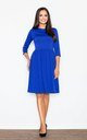 Blue Flared Knee Length Dress by FIGL