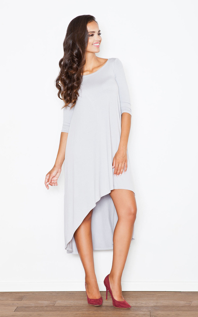 Light Grey Loose Fitting Casual Dress by FIGL