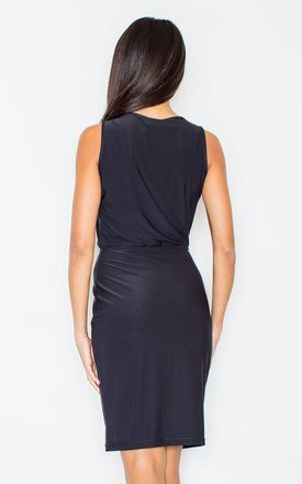 Black Sleeveless Pencil Dress by FIGL