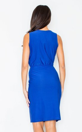 Blue Sleeveless Pencil Dress by FIGL