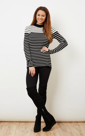 Stripy Monochrome Contrast Top by VILA