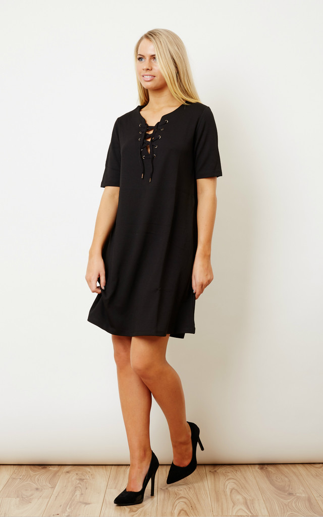 Black Lace Up Dress by VILA