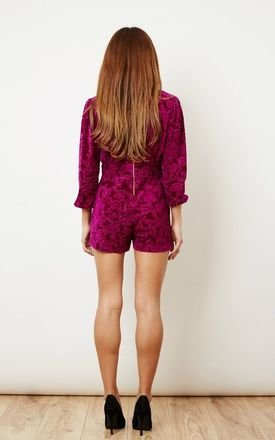 Pink Velvet Playsuit by ceekit