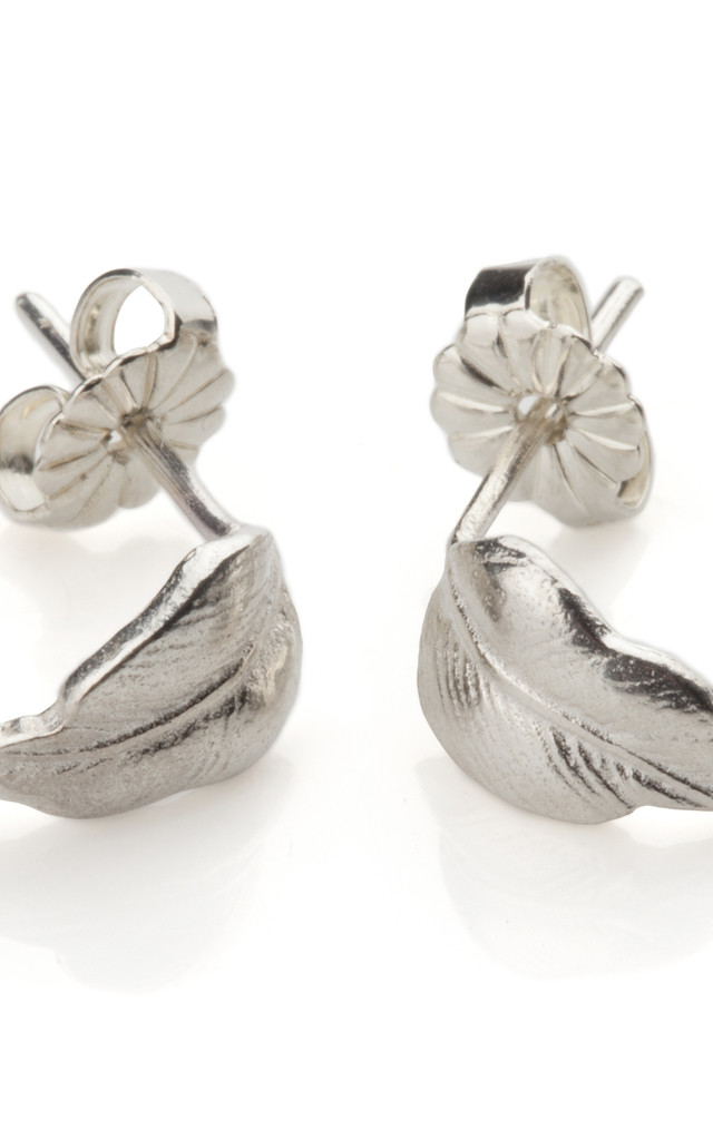 Silver Feather Earrings by Frillybylily