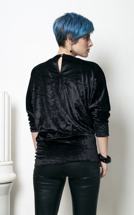 90s vintage shiny velvet tunic top by Pop Sick Vintage