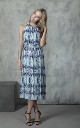City life silk maxi halter dress by Lulu Hayes Product photo