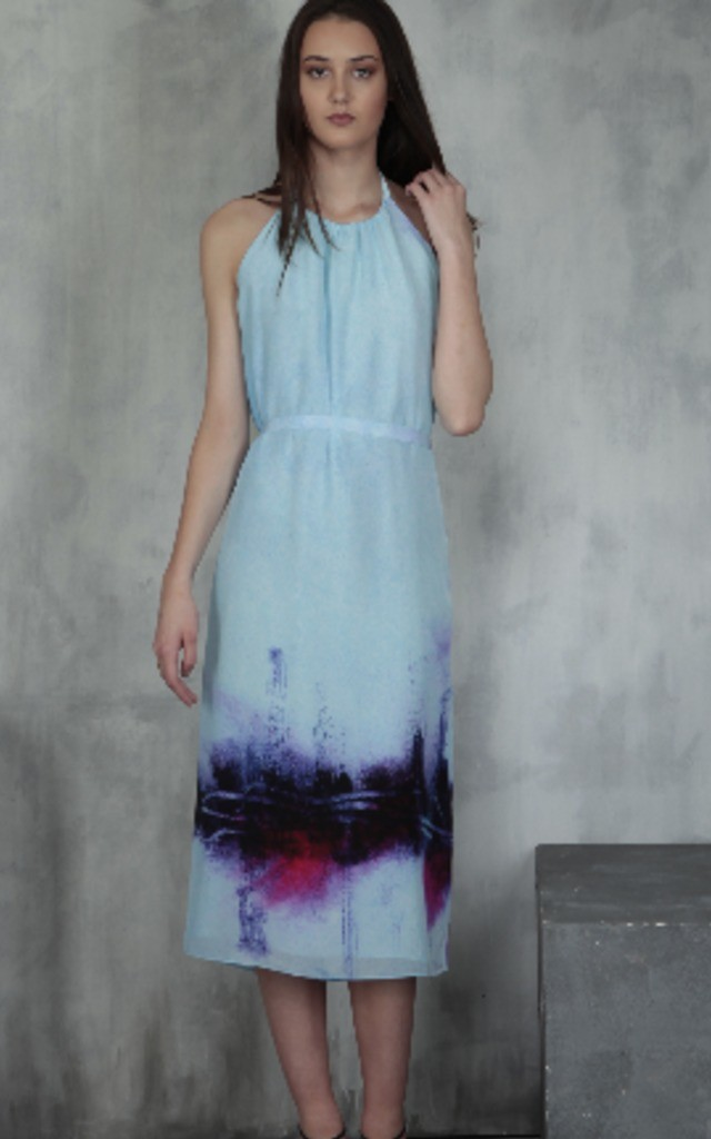 Graffiti | Maxi Halter Dress by Lulu Hayes