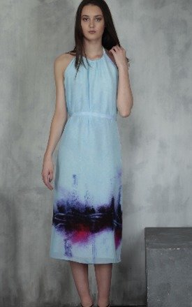 Graffiti print maxi halter dress by Lulu Hayes Product photo