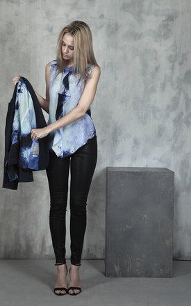Free flow silk waterfall blouse by Lulu Hayes Product photo