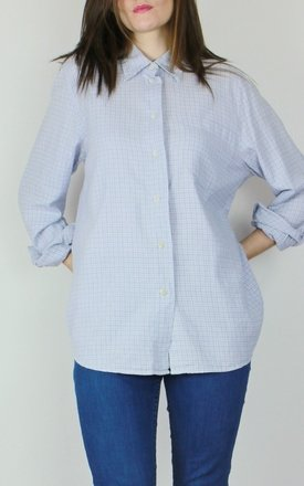 Vintage 90s wool light blue check gingham shirt top by Re:dream Product photo