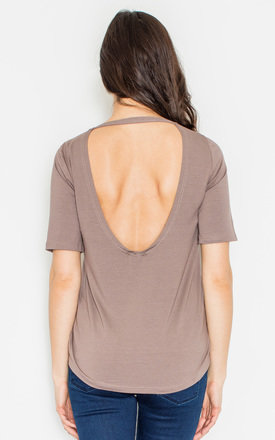 Backless Brown Blouse by FIGL