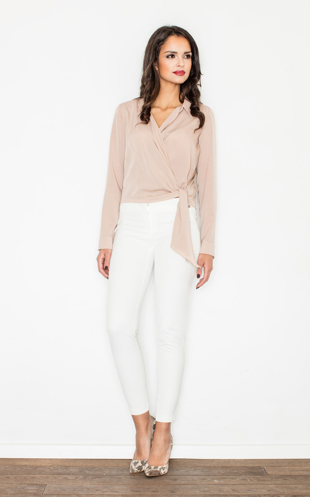 Beige Layered Blouse by FIGL