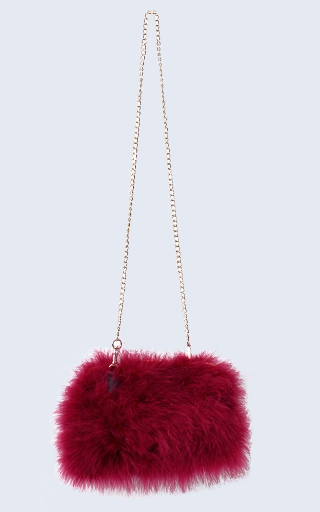 Feather Bag Mulled Burgundy by Amelia Jane London