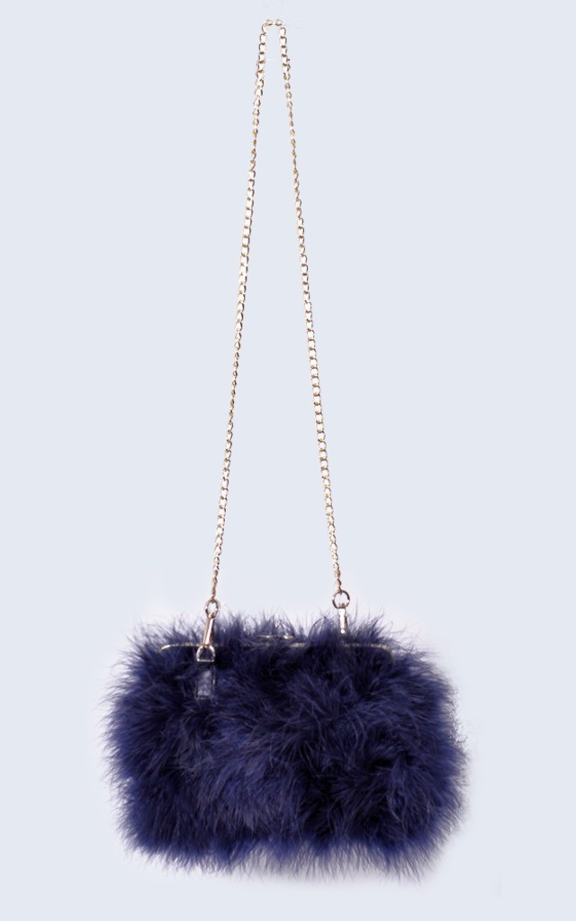Feather Bag Navy by Amelia Jane London