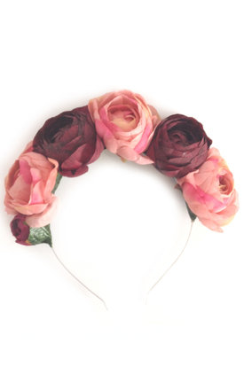 Dusky peony garland headband by Crown and Glory Product photo