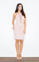 Pink Fitting Dress with Transparent Stripe by FIGL