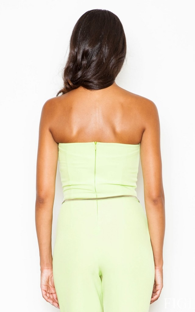Lime Off The Shoulder Jumpsuit With Belt by FIGL