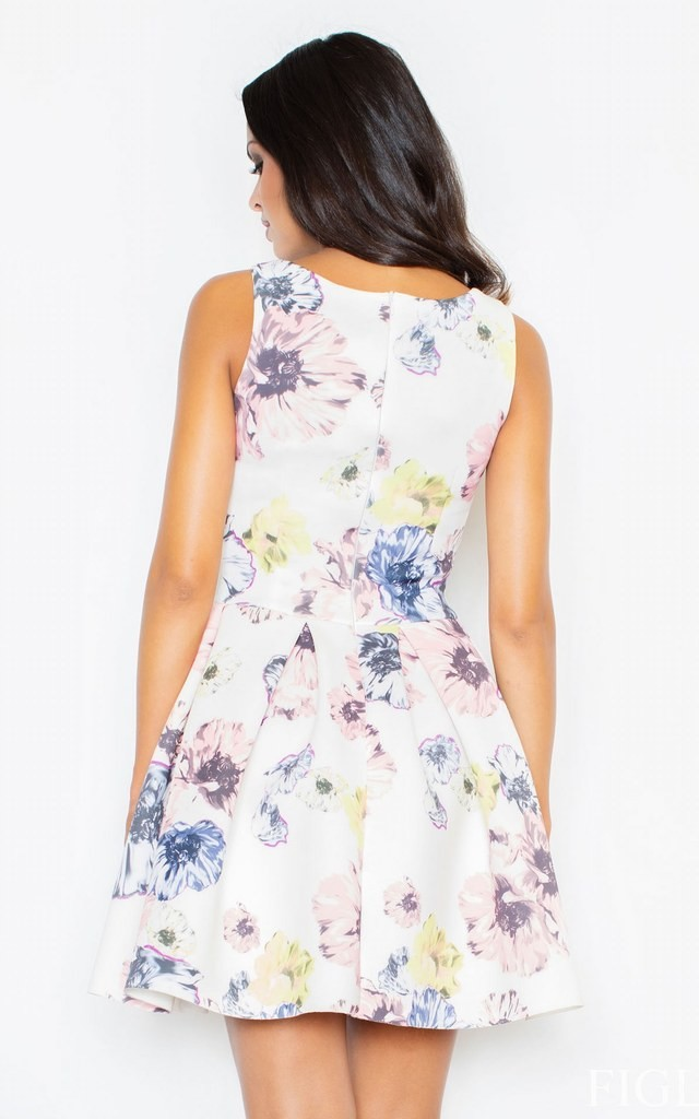 Floral Print Sleeveless Flared Dress by FIGL