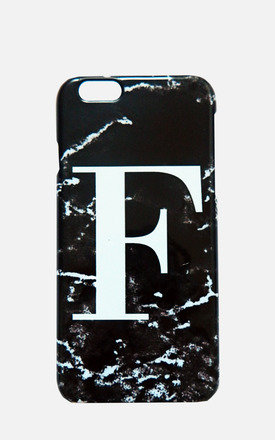 Black Marble single initial phone case style 2 by Rianna Phillips