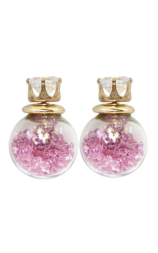 Glass Bauble Stud Earring by VeryGirly