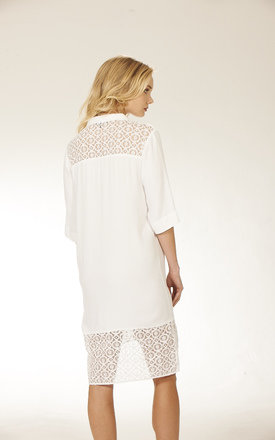 Crochet Shirt Dress by Lily and Carter London