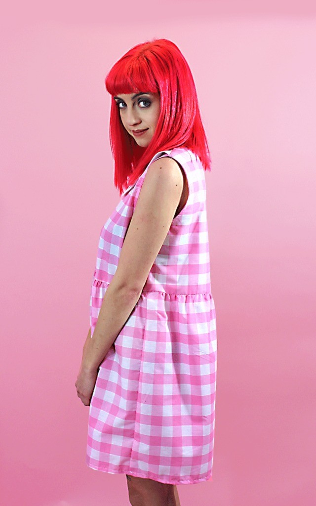 Pink Gingham Dress with Ice Cream Collar by Tallulah's Threads