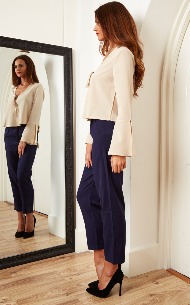 Navy Cigarette Pants by Lola May