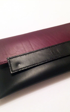 Keeley Clutch Burgandy by Laura Jessica.