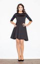 Quilted Skater Dress in Black by FIGL