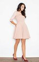 Quilted Skater Dress in Light Pink by FIGL