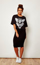 Wild Cat Short Sleeve Crop Top in Black by We Are Still Bold and Beautiful