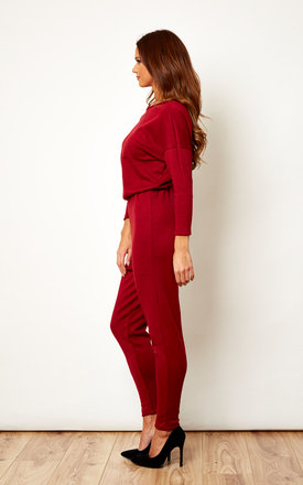 Burgundy Jumpsuit by We Are Still Bold and Beautiful