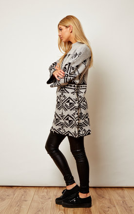Grey and Black Knit Jumper Dress by VILA
