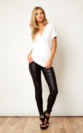 PU Leather Trousers by VILA