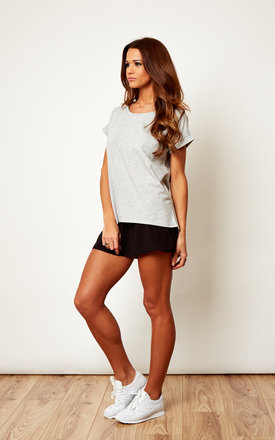 Basic Grey Short Sleeve T-shirt by VILA
