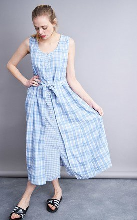 Vintage 80's checked Boho festival maxi country dress by Lover