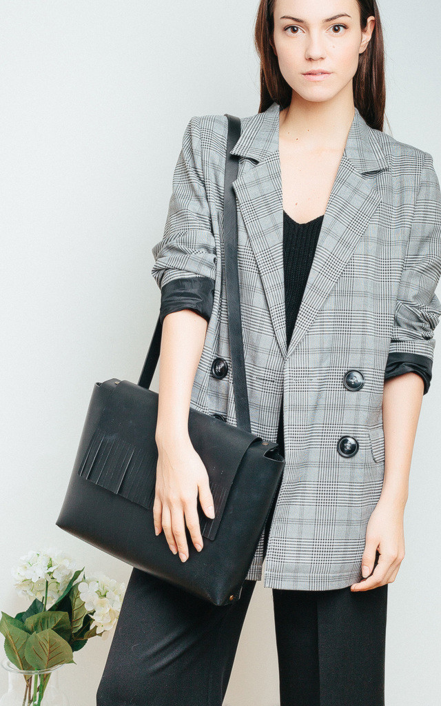 Grey Houndstooth Jacket by SIVONNA