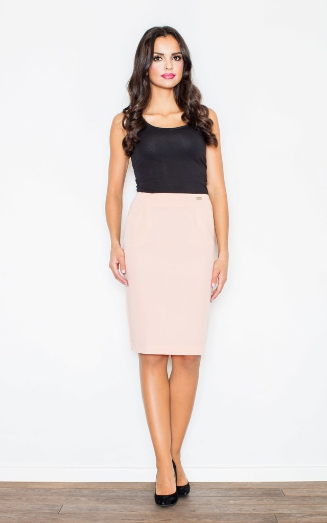 Pink Midi Skirt with Pockets by FIGL