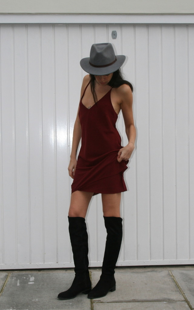 RUBY Crossed Back Dress by Maria Steffani